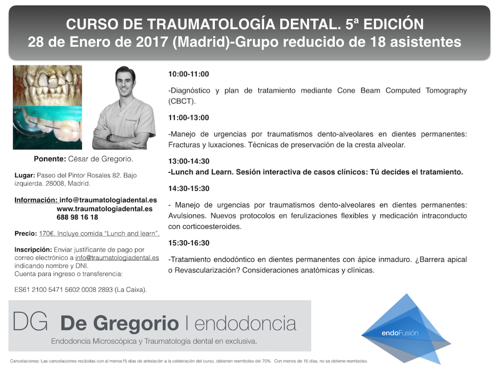 CURSO TRAUMATOLOGIA DENTAL