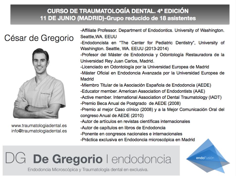 CURSO TRAUMATOLOGIA DENTAL CESAR DE GREGORIO 2
