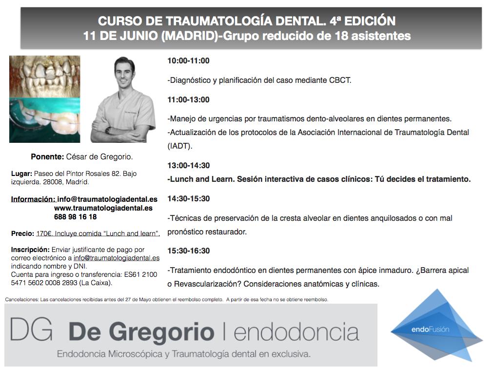 CURSO TRAUMATOLOGIA DENTAL CESAR DE GREGORIO 1
