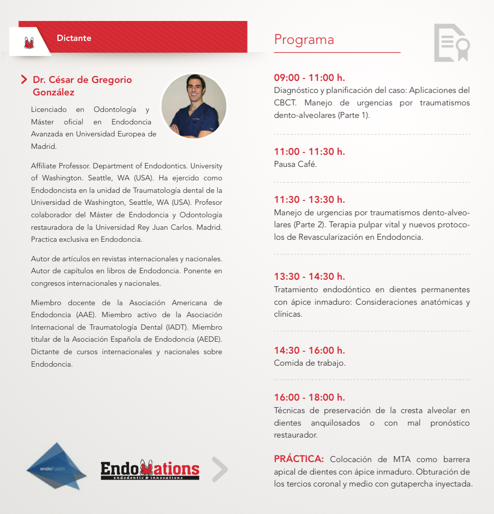 Curso Traumatologia Dental Madrid 2